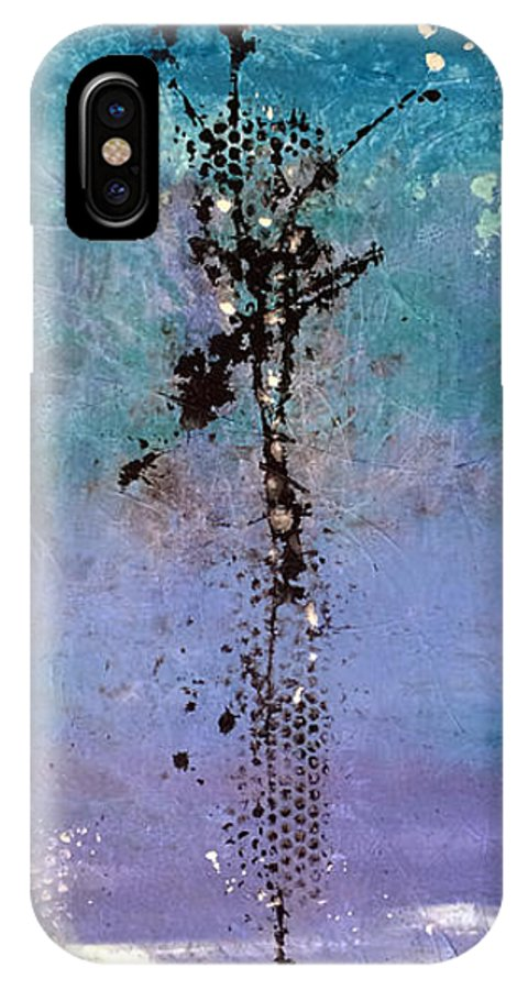 Landscape IPhone X Case featuring the painting Delight by Jill English