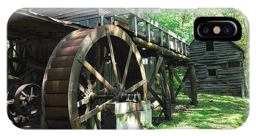 Grist Mill IPhone X Case featuring the photograph Dellinger Mill by Alan Lenk