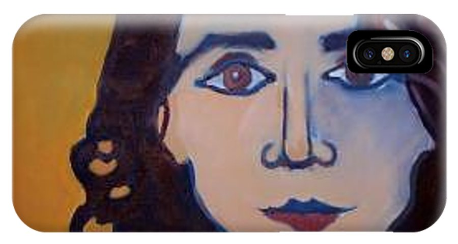Greek Woman IPhone X Case featuring the painting Denise Closeup by Debra Bretton Robinson
