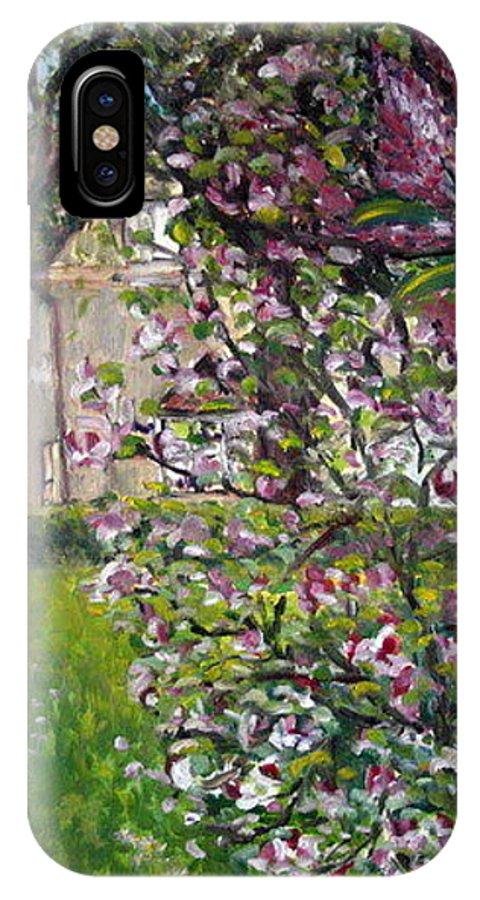 Landscape IPhone X Case featuring the painting Dentist Flowers by Pablo de Choros