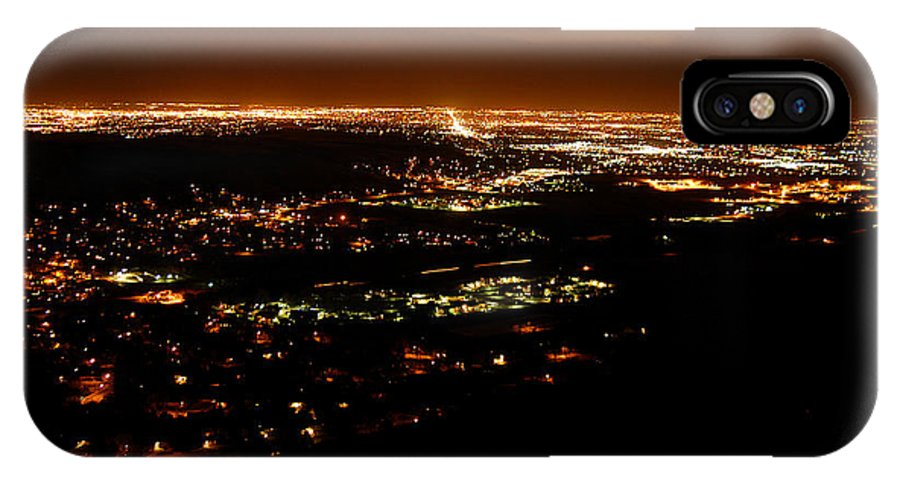Clay IPhone X Case featuring the photograph Denver Area At Night From Lookout Mountain by Clayton Bruster