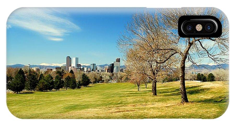 Denver IPhone X Case featuring the photograph Denver City Park by Chris Anthony