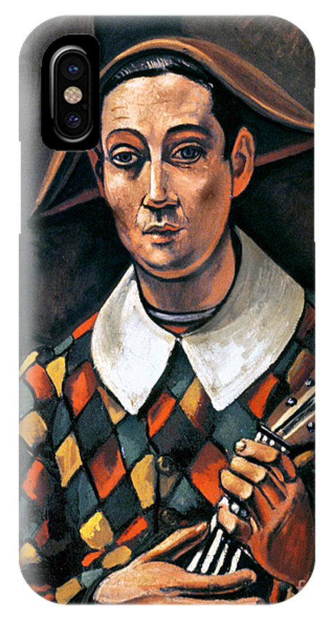 1919 IPhone X Case featuring the photograph Derain: Harlequin, 1919 by Granger
