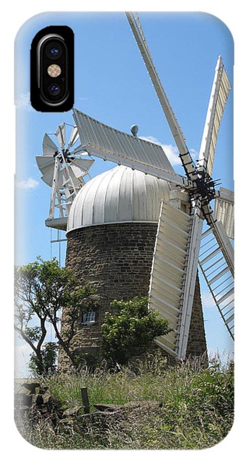 Windmill.derbyshire Windmill IPhone X Case featuring the photograph Derbyshire Windmill by Bob Kemp