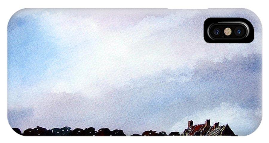 Watercolour IPhone Case featuring the painting Derelict Farmhouse Near Malton by Paul Dene Marlor