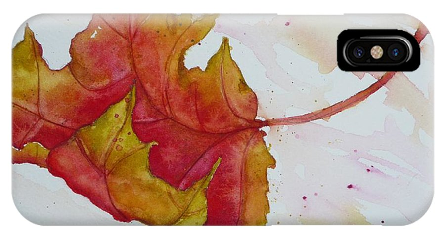 Fall IPhone Case featuring the painting Descending by Ruth Kamenev
