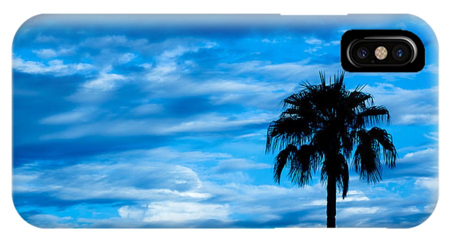 Desert IPhone X Case featuring the photograph Desert Blues by Nick Mattea