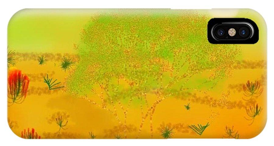 Sky.heat.dust.sun.desert.bush.sand.prickles. Sandy Dunes.rest.silence. IPhone X Case featuring the digital art Desert by Dr Loifer Vladimir