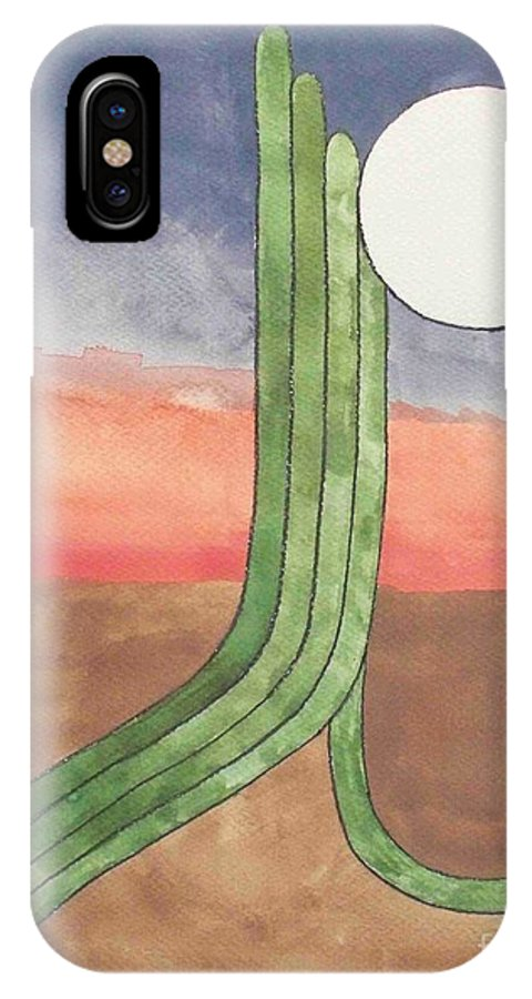Desert IPhone Case featuring the painting Desert Moon by LeAnne Sowa