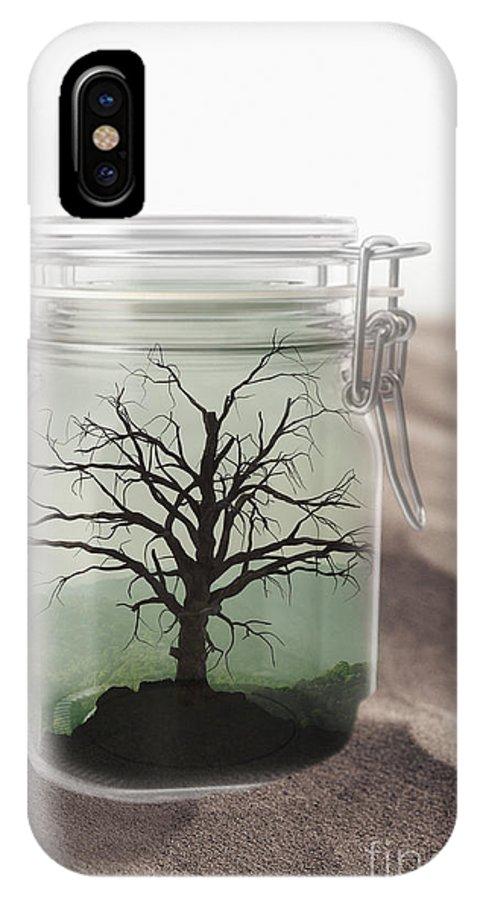 Tree IPhone X Case featuring the digital art Desert Oasis by Edward Fielding