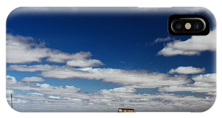 Opal City IPhone X Case featuring the photograph Desert On Tv by Christian Hallweger