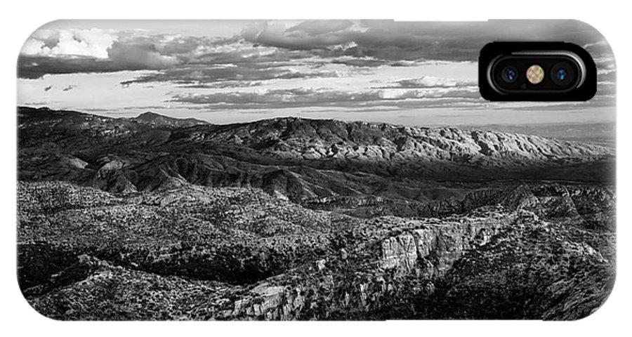 Desert IPhone X / XS Case featuring the photograph Desert Overlook #2 Bw by Korrine Holt