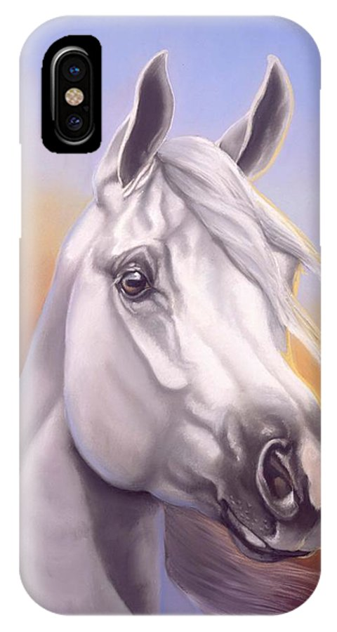 Arabian IPhone X / XS Case featuring the painting Desert Prince by Howard Dubois