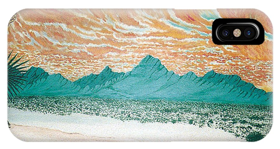 Desertscape IPhone Case featuring the painting Desert Splendor by Marco Morales