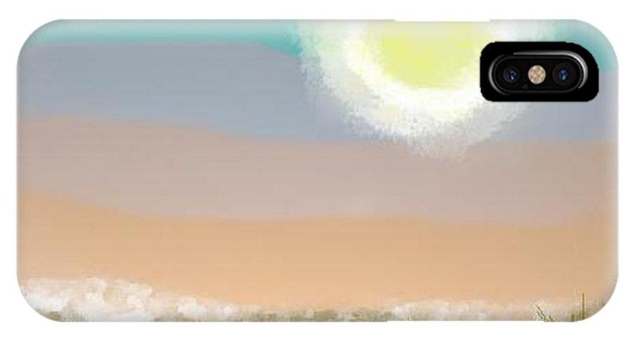 Sky.moon.desert.rest.silence.sand.prickles.moonlight. IPhone Case featuring the digital art Desert.night.moon by Dr Loifer Vladimir