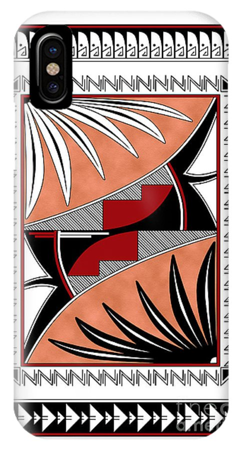Southwest IPhone X Case featuring the digital art Southwest Collection - Design Three In Red by Tim Hightower