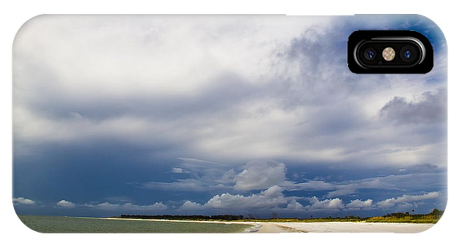 Fort Desoto Beach Located In Tampa Bay Florida At Fort Desoto Blue Sky Green Waters IPhone X / XS Case featuring the photograph Desoto Beach by Nicholas Evans