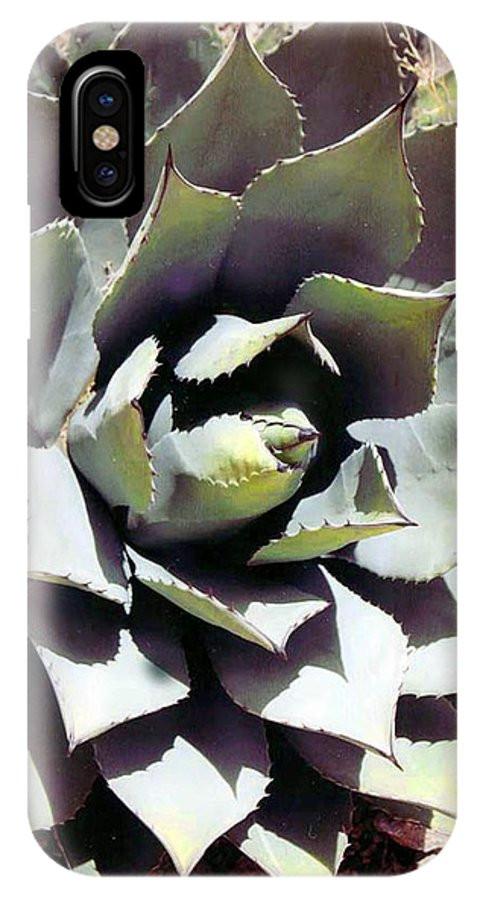 Flower IPhone X Case featuring the photograph Dessert Agave by Margaret Fortunato