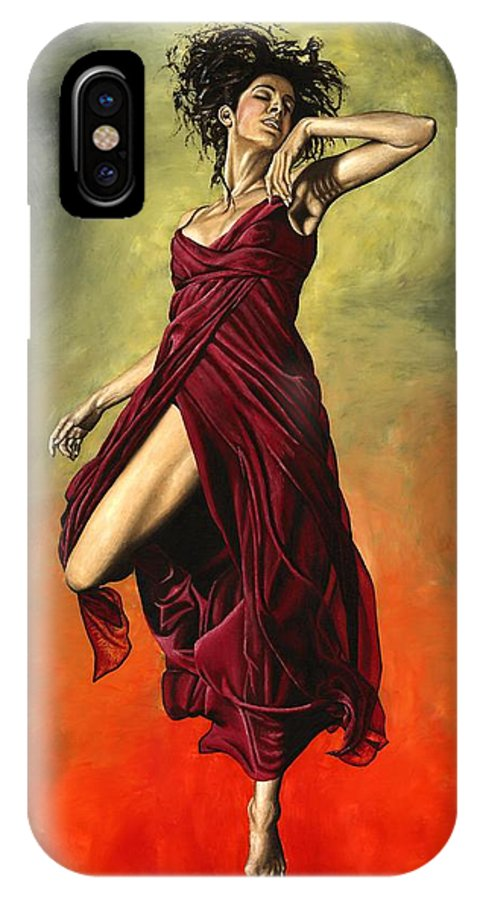 Dance IPhone Case featuring the painting Destiny's Dance by Richard Young