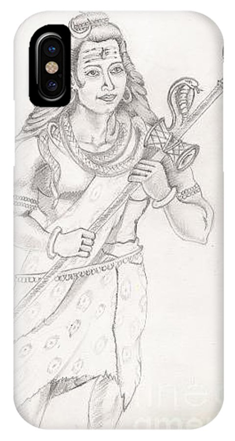 Lord Shiva IPhone X Case featuring the painting Destroyer Of The Universe - Lord Shiva by Tanmay Singh