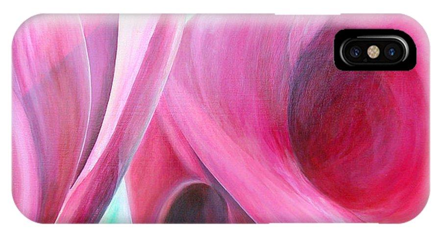 Fleurs IPhone X Case featuring the painting Detail by Muriel Dolemieux
