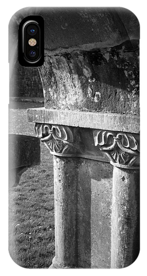 Irish IPhone X Case featuring the photograph Detail Of Cloister At Cong Abbey Cong Ireland by Teresa Mucha