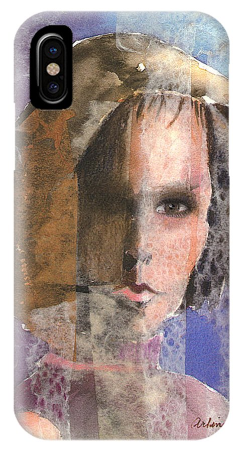 Woman IPhone Case featuring the mixed media Determination by Arline Wagner