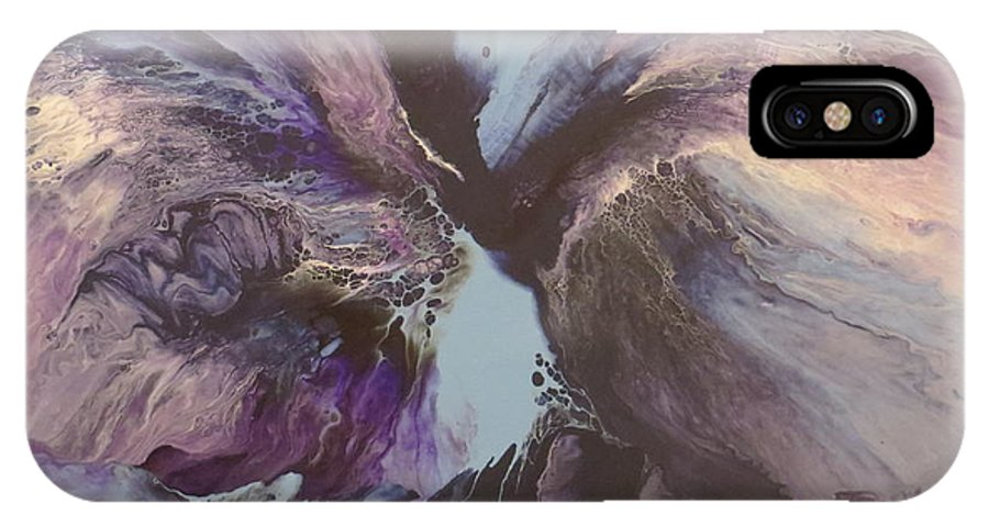 Abstract IPhone X Case featuring the painting Determination by Soraya Silvestri