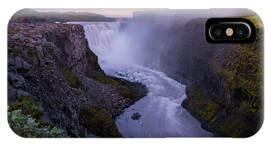 Landscape IPhone X Case featuring the photograph Detifoss by Siddhartha De