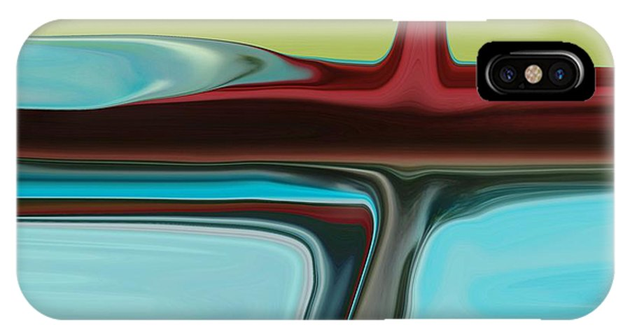 Modern IPhone X / XS Case featuring the digital art Detour by Florene Welebny