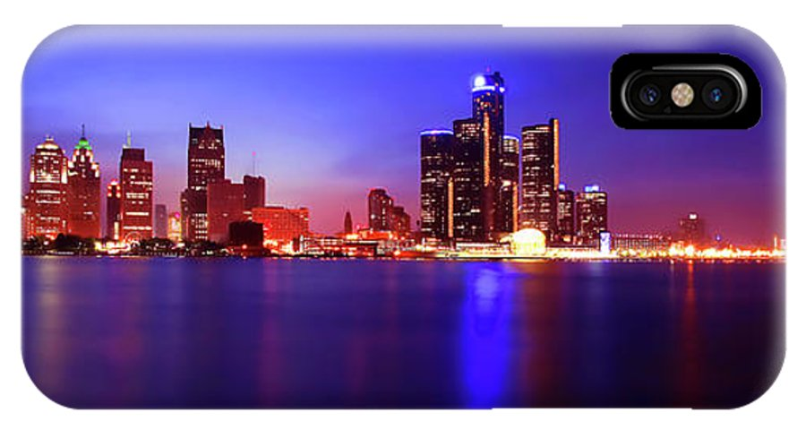 Detroit IPhone X Case featuring the photograph Detroit Skyline 3 by Gordon Dean II