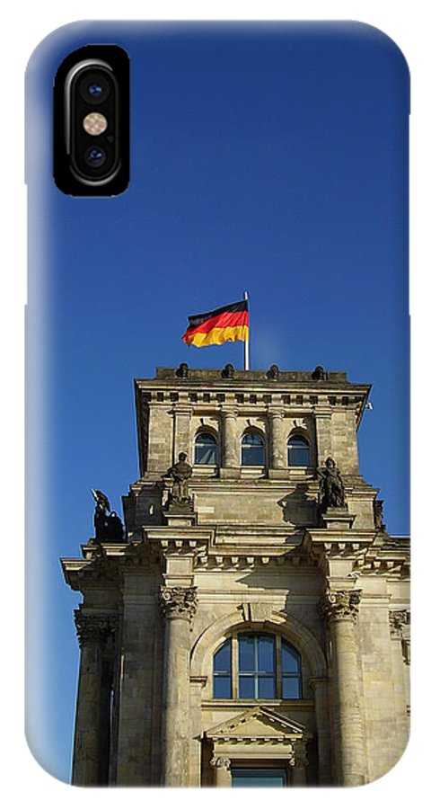 Deutscher Bundestag IPhone X Case featuring the photograph Deutscher Bundestag II by Flavia Westerwelle
