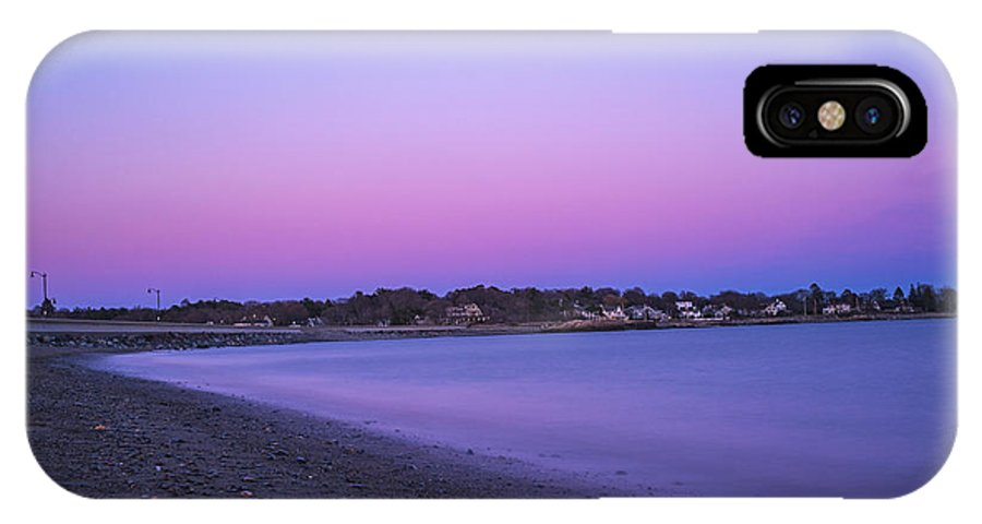 Marblehead IPhone X Case featuring the photograph Devereaux Beach Marblehead Ma At Dusk by Toby McGuire