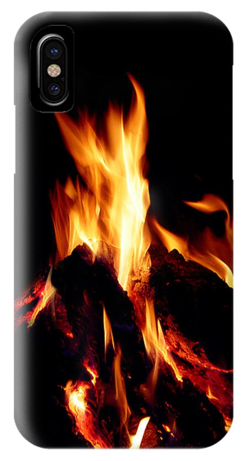 Devil IPhone X Case featuring the photograph Devil Fire by Peter Piatt
