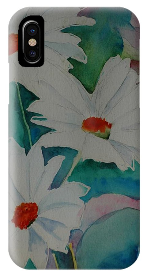 Daisies IPhone X Case featuring the painting Devin's Dasies by Melinda Etzold