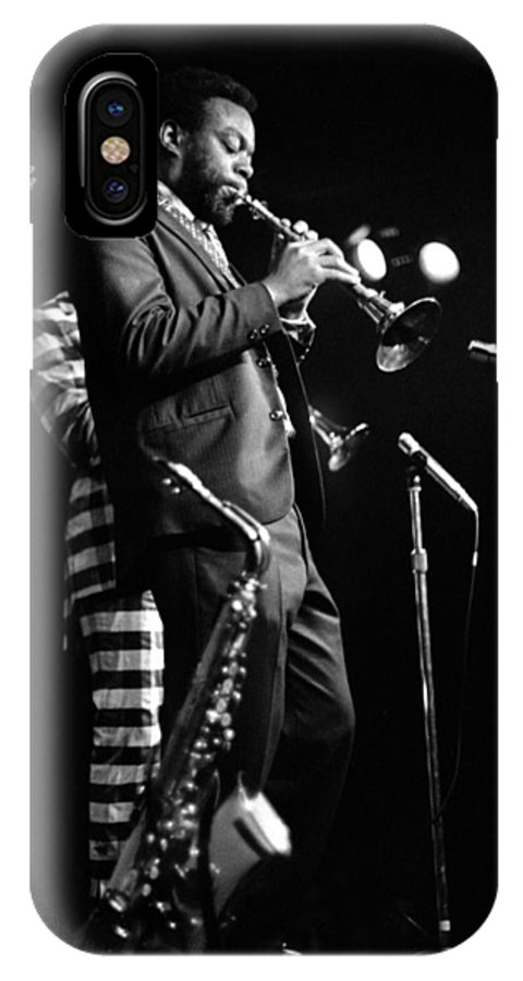 Ornette Coleman IPhone X Case featuring the photograph Dewey Redman On Musette by Lee Santa