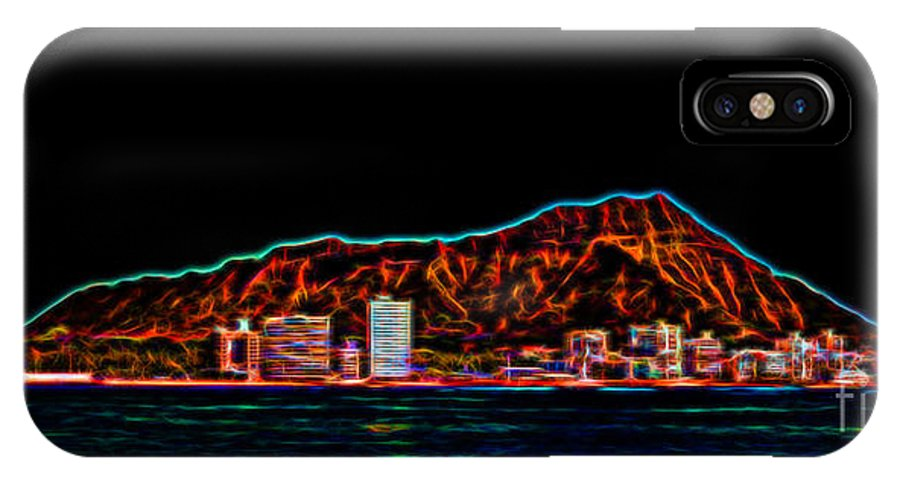Hawaii IPhone X Case featuring the photograph Diamond Head Nights by Jon Burch Photography