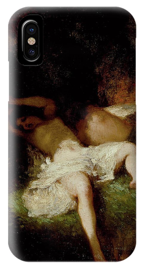 Barbizon School IPhone X Case featuring the painting Diana Resting by Jean-Francois Millet