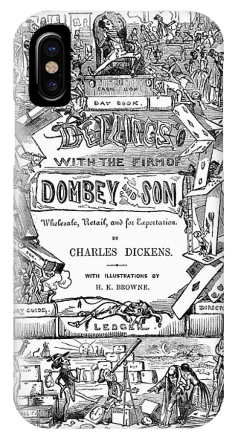 1847 IPhone X Case featuring the photograph Dickens: Dombey And Son by Granger