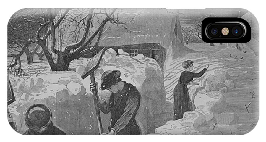 Winslow Homer IPhone X Case featuring the digital art Digging Out by Newwwman