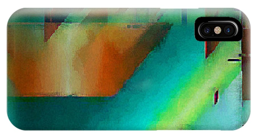 Digital IPhone X Case featuring the digital art Digital Abstract 6 by Ilona Burchard