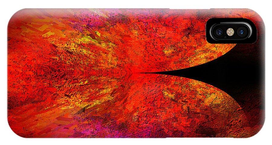 Digital IPhone X Case featuring the digital art Digital Abstract 8 by Ilona Burchard