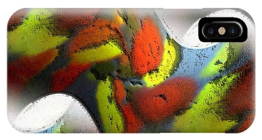 Digital IPhone X Case featuring the digital art Digital Abstract World by Ilona Burchard