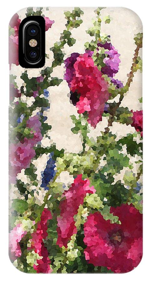 Digital Artwork IPhone X Case featuring the digital art Digital Artwork 1418 by Maureen Lyttle