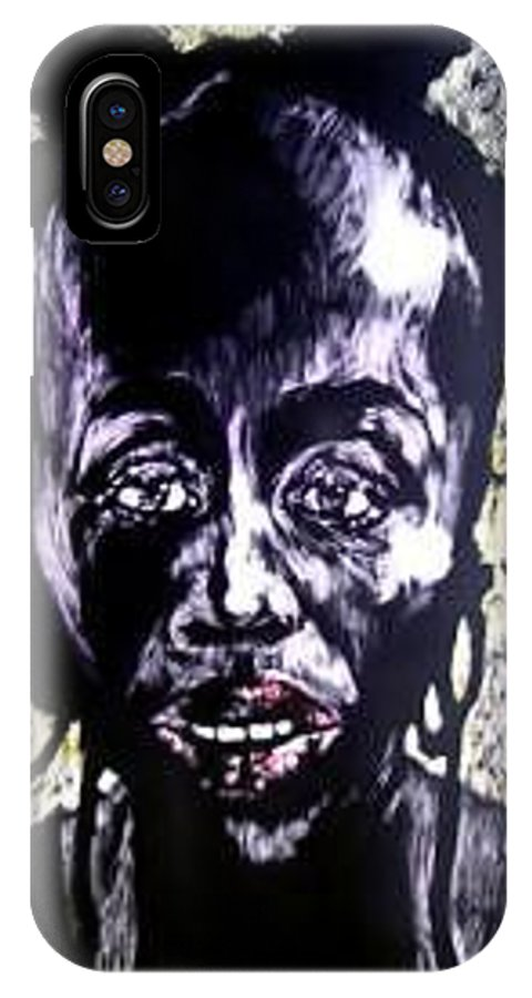International Womens Day IPhone X / XS Case featuring the mixed media Digital Divide by Chester Elmore
