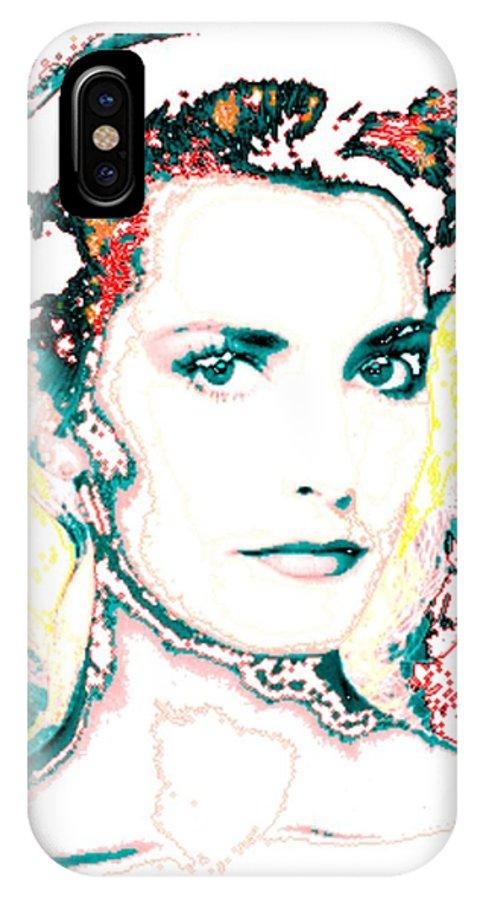 Digital IPhone X Case featuring the digital art Digital Self Portrait by Kathleen Sepulveda