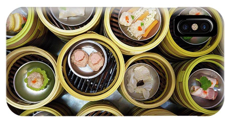 Appetizer IPhone X Case featuring the photograph Dim Sum by Atiketta Sangasaeng