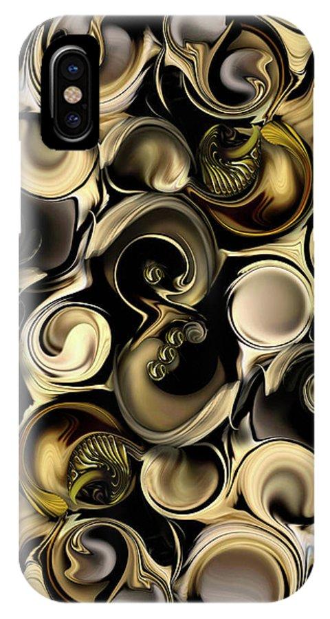Dimension IPhone X Case featuring the digital art Dimension Vs Shape by Carmen Fine Art
