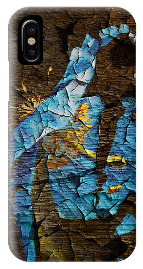 Flower IPhone X Case featuring the digital art Diminishing Poppy by Svetlana Sewell