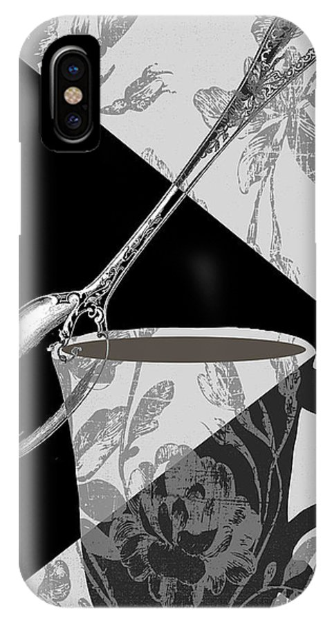 Cup IPhone X Case featuring the painting Dinner Conversation II by Mindy Sommers